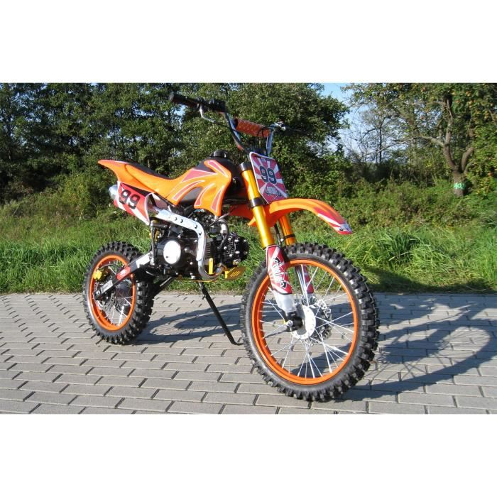 moto cross dirtbike enduro pour jeunes 125cc 17 14 pouces orange achat vente moto moto cross. Black Bedroom Furniture Sets. Home Design Ideas