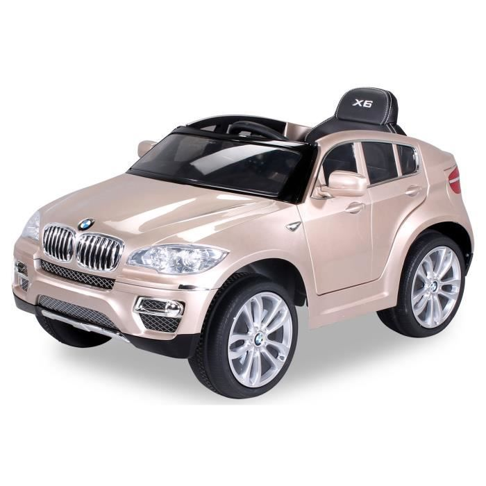 mini voiture lectrique pour enfants bmw x6 90 watt champagne laqu achat vente voiture. Black Bedroom Furniture Sets. Home Design Ideas