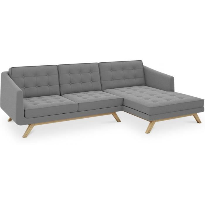 Canap chaise longue marvin design scandinave cachemire for Achat chaise longue