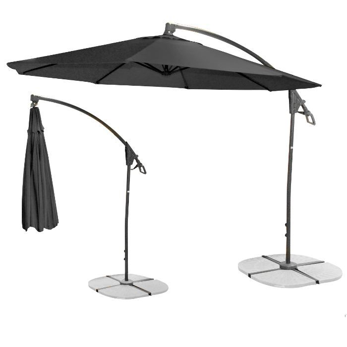 parasol d port noir achat vente parasol parasol d port noir cdiscount. Black Bedroom Furniture Sets. Home Design Ideas