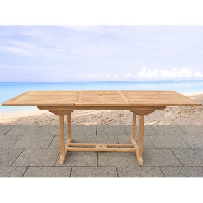 Table de jardin table en acacia rectangulaire for Vente table jardin