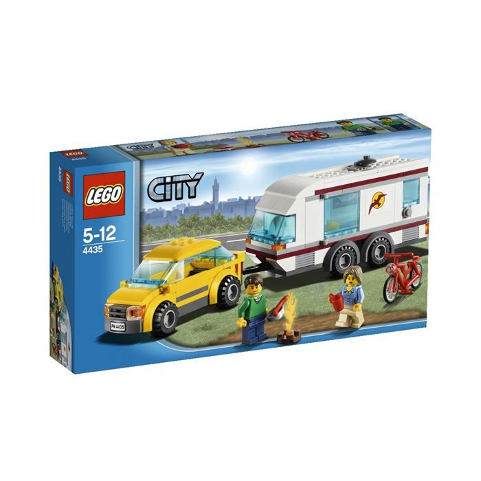 lego city 4435 la voiture et sa caravane achat vente assemblage construction les soldes. Black Bedroom Furniture Sets. Home Design Ideas