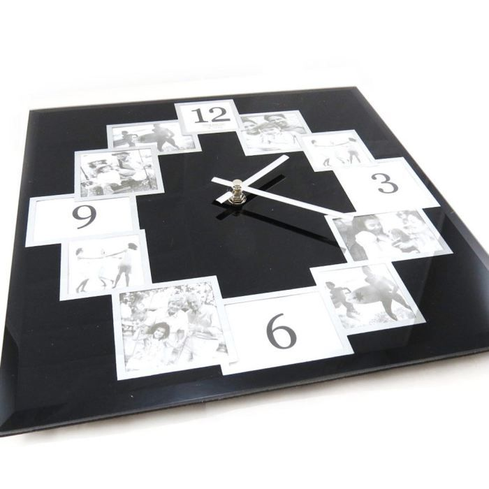 p le m le horloge design noir achat vente cadre photo cdiscount. Black Bedroom Furniture Sets. Home Design Ideas