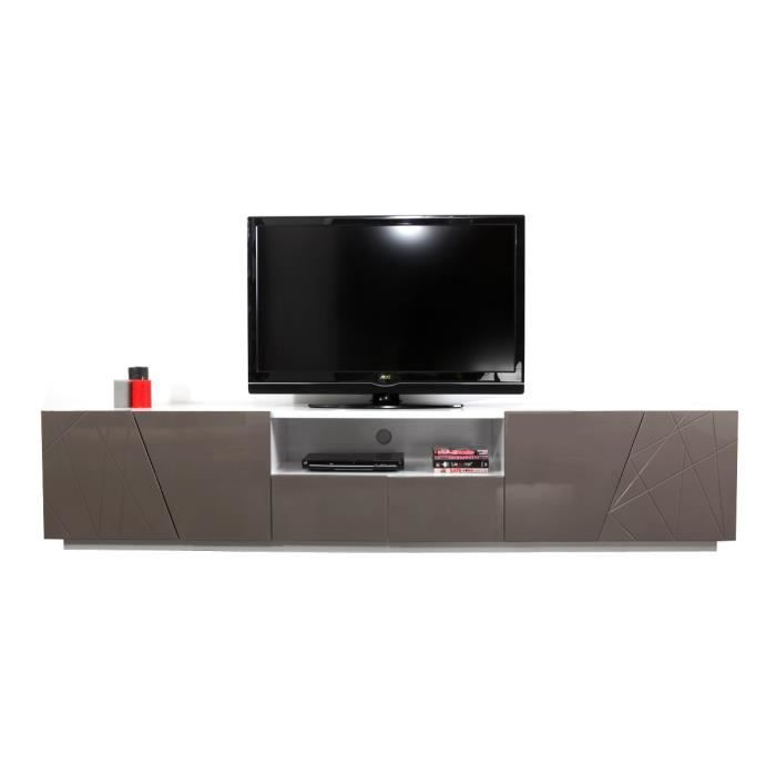 miliboo meuble tv design taupe alessia achat vente meuble tv alessia tv cdiscount. Black Bedroom Furniture Sets. Home Design Ideas