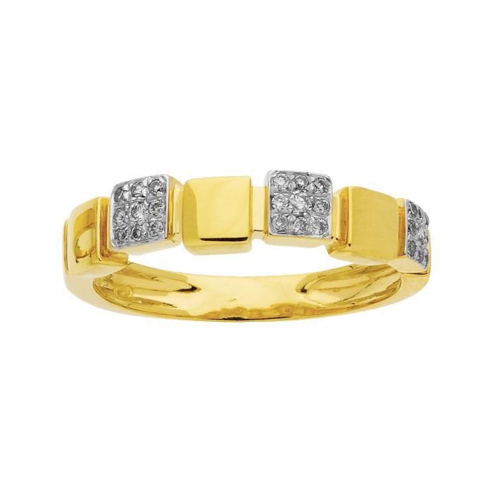 DIAMANTLY Bague pavages diamants 0,15ct or 750/1000