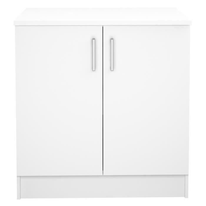 ELEMENTS BAS Meuble de cuisine bas de 2 portes coloris blanc -