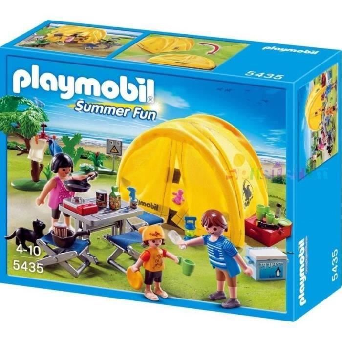 Playmobil 5435 famille et tente de camping achat vente for Piscine play mobile