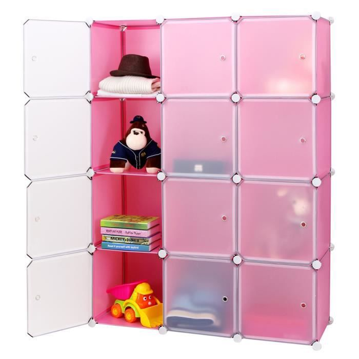 songmics diy armoire penderie cubes etag re modulables. Black Bedroom Furniture Sets. Home Design Ideas