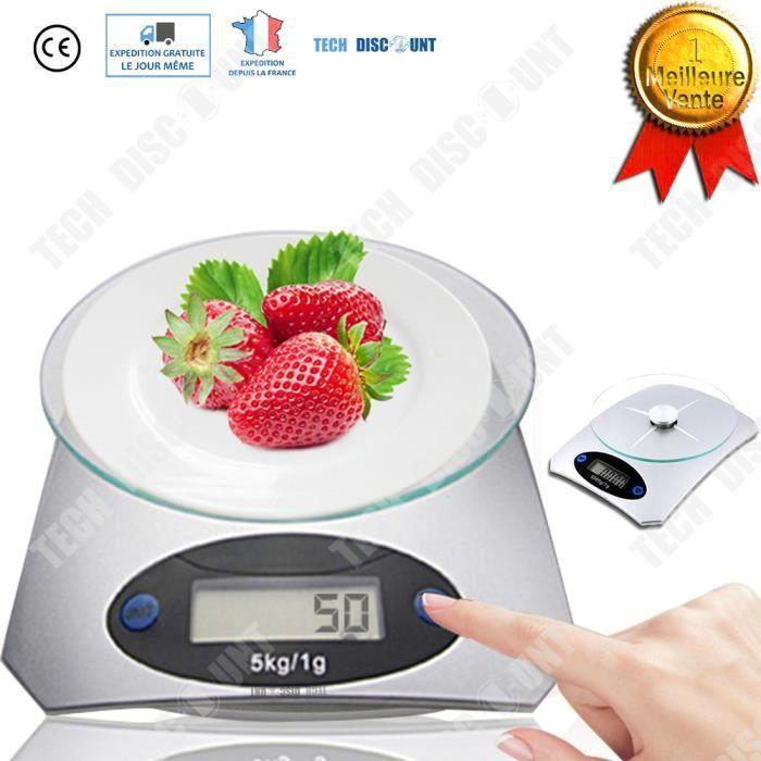 Td Balance De Cuisine 5kg 1g Electronique Haute Precision Ecran
