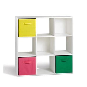 Biblioth que etag re cube achat vente biblioth que for Meuble 9 cases