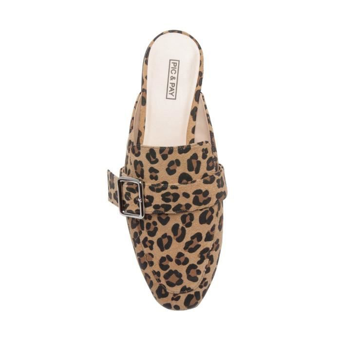 Nouvelle chute Dacia Mocassins - Backless Slip-on Mule en cuir XZOPW Taille-36 1-2