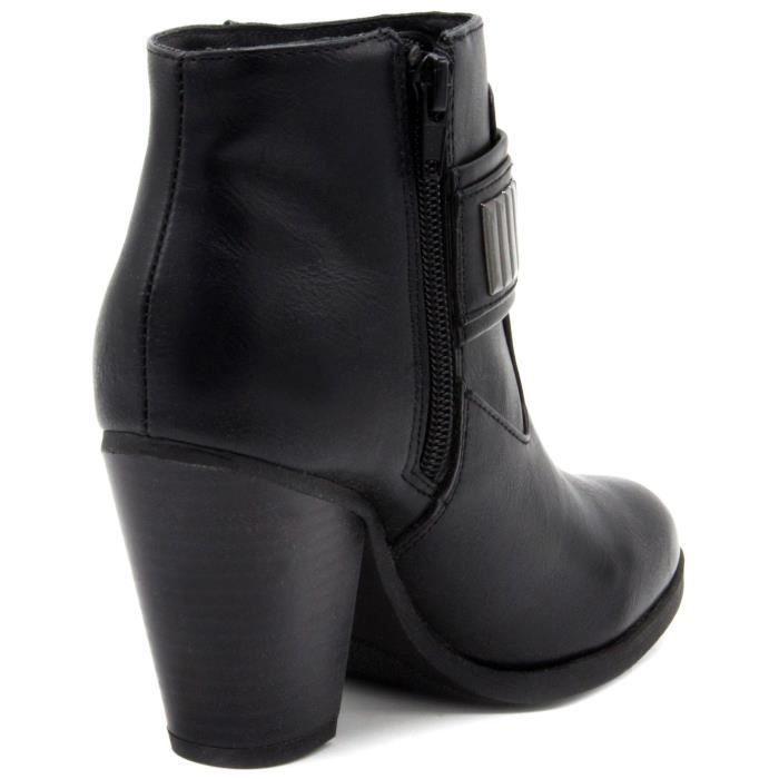 Rampage Velma bout rond synthétique noir Bootie JBG06 Taille-39 PFmQ7Y