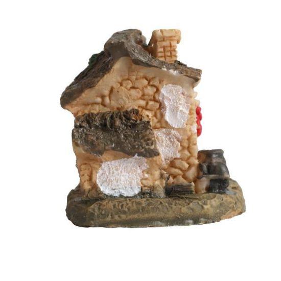 Dollhouse Miniature Meubles Lit Canapé Micro Paysage Décoration De Jardin Rouge