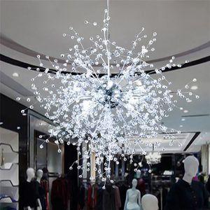 LUSTRE ET SUSPENSION Lustre Pissenlit Fleur Suspension Cristal Lampe Pl