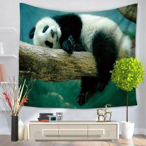JETÉE DE LIT - BOUTIS Tapisserie de panda animaux Hippie Tenture murale