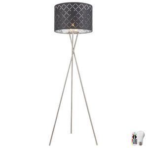 LAMPADAIRE Lampadaire en tissu décor salon dimmable télécomma