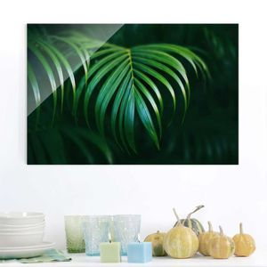 CADRE PHOTO 832667 80x120 cm verre photo - feuilles de palmier