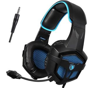 CASQUE AVEC MICROPHONE A SADES ®A807 Casque Gaming pour PS4 Xbox One Nint