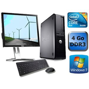 UNITÉ CENTRALE + ÉCRAN Dell Optiplex 780 - 4 Go - Windows 7 + Ecran 17''