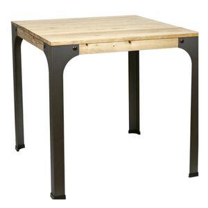 TABLE À MANGER SEULE Table bistro style industriel vintage bois massif