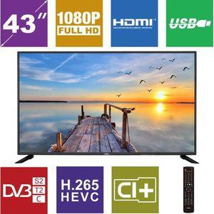 Téléviseur LED HKC 43F6 43 pouces Full HD TV