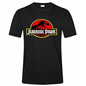 T-SHIRT Homme Fashion Jurassic Park T Shirt Casual High Qu