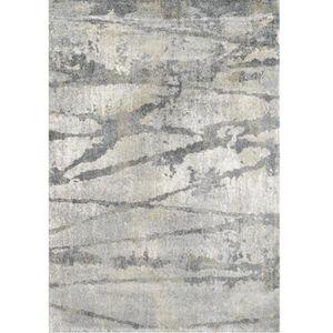 TAPIS Tapis de salon à lignes gris 200x290 - Collection
