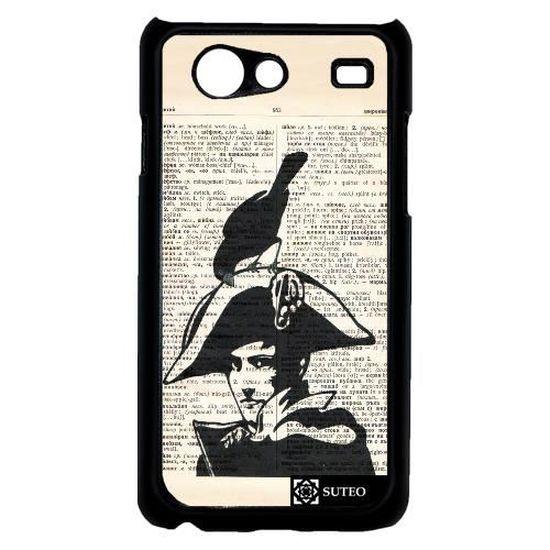 Coque Samsung Galaxy Advance - Napoléon dessiné sur un journal ...
