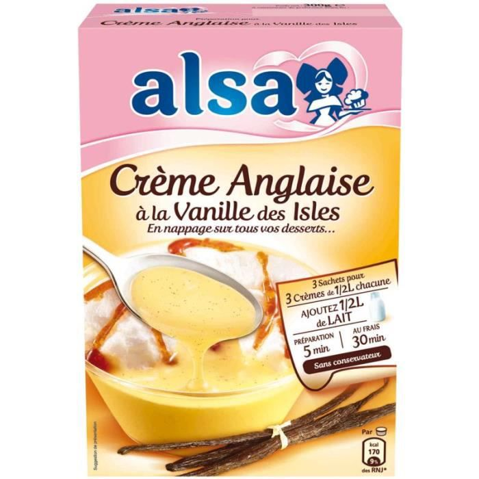 Crème Anglaise Fine Vanille des Isles 3 x300 g