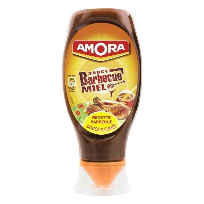 Amora Sauce Barbecue Miel Douce & Fumée 485g (lot de 5)