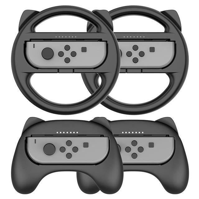 Poignée de console de jeu, poignée de volant / accessoires de console de jeu (noir)