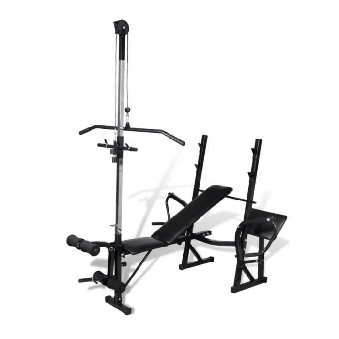 Banc de musculation appareil à charge guidée sport fitness musculation 0702056