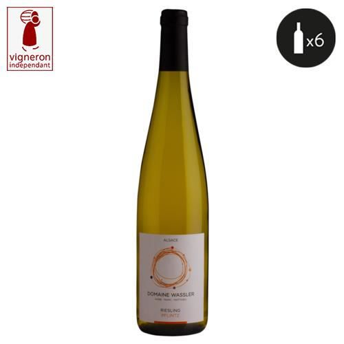 6 bouteilles - Vin blanc - Tranquille - DOMAINE WASSLER Riesling Pflintz Alsace Riesling Blanc 2018 6x75cl
