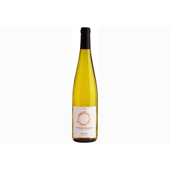 6 bouteilles - Vin blanc - Tranquille - DOMAINE WASSLER Riesling Pflintz Alsace Riesling Blanc 2018 6x75cl