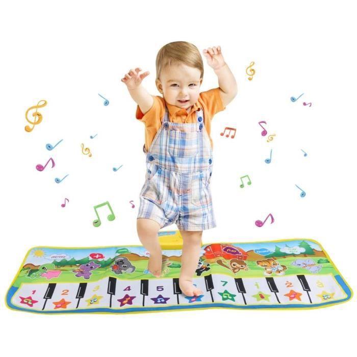 Tapis de piano, jouets musicaux 10 tapis de musique clés tapis de danse éducation précoce jouet clavier musical portable