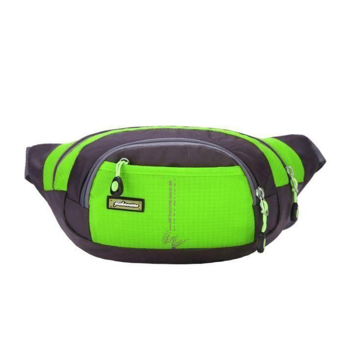 264Running Bum sac voyage pratique randonnée sport Fanny pack taille ceinture zip pochette vert LIKK11714