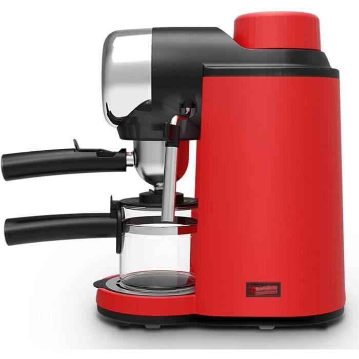 Petite Machine à café de Bureau à Domicile, Mousse de Lait Expresso Semi-Automatique et Machine à café Tout-en-Un à Cuisson Auto,156