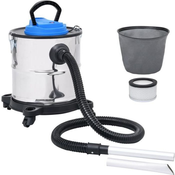 Aspirateur à cendres et filtre HEPA 1200W 20 L Acier inoxydable HB045