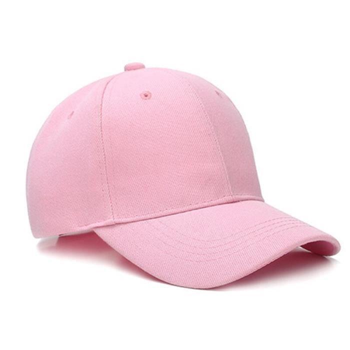 Été adulte unisexe Simple femme noir réglable casquette de Baseball blanc papa Hip hop chapeaux pour Rose Taille unique > 8Y
