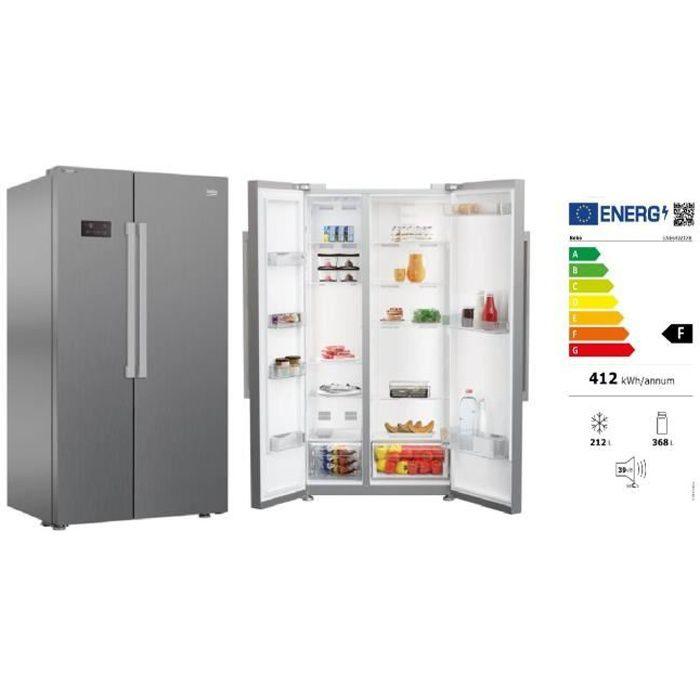 Réfrigérateur congélateur Beko GNE64021XB SbS