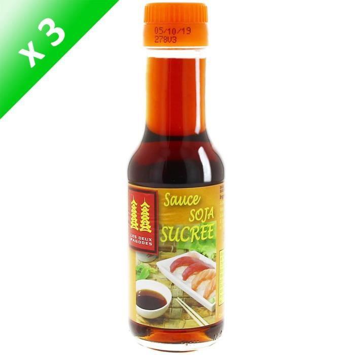 [LOT DE 3] LES DEUX PAGODES Sauce Soja Sucrée - 12,5 cl