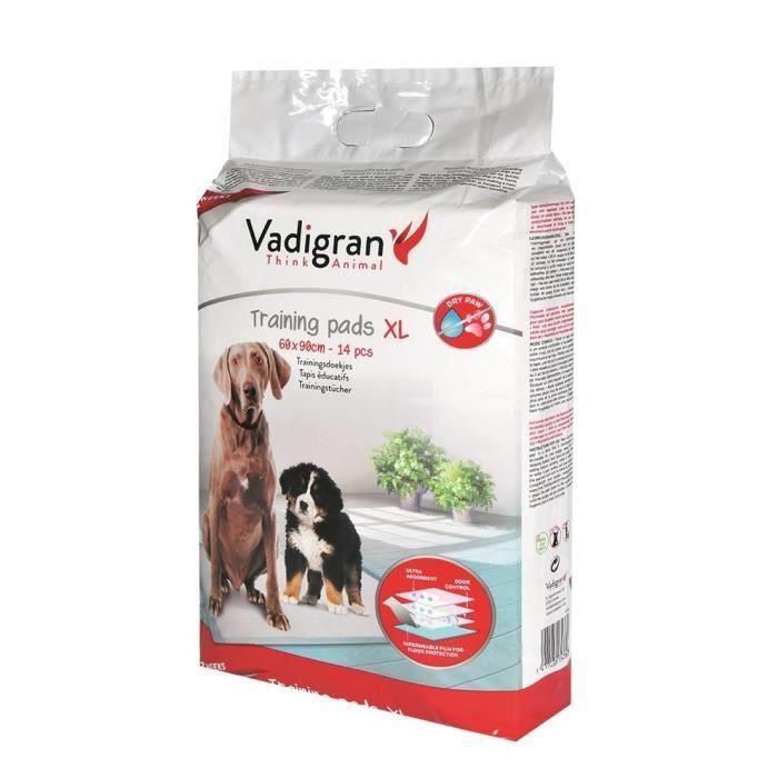VADIGRAN Tapis éducateurs - 60 x 90 cm - 14 pièces - Pour chiens (Lot de 3)