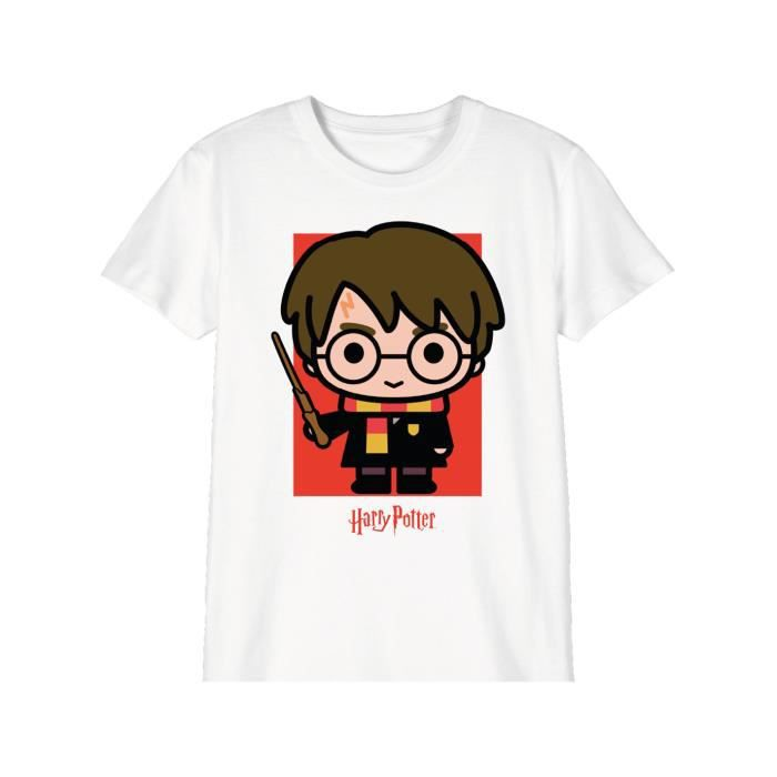 T-shirt Enfant Harry Potter - BTH Chibi Potter 6 ans Blanc