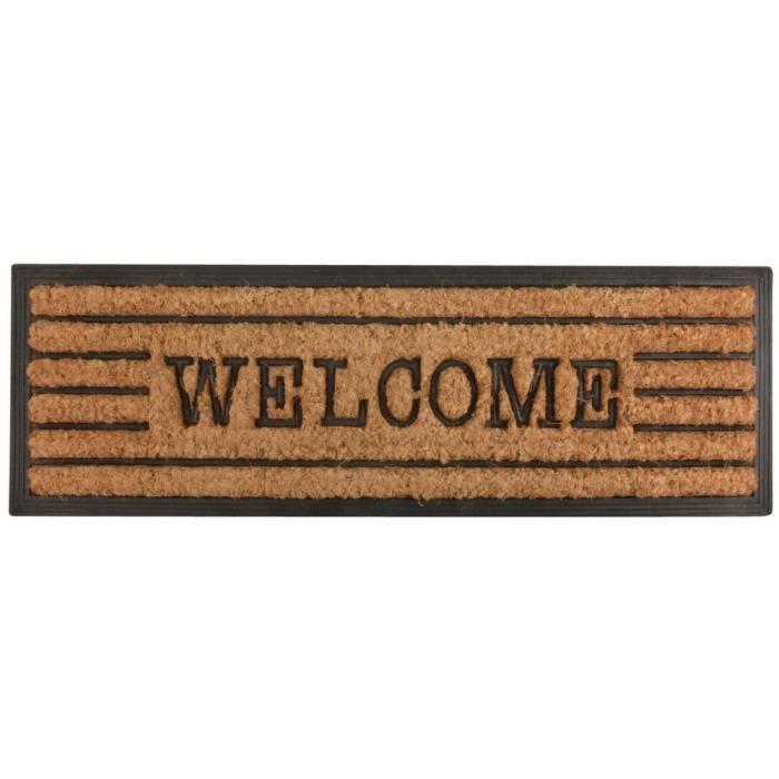 Tapis en fibres de coco inscription Welcome