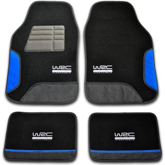 Set de 4 tapis Blue Race