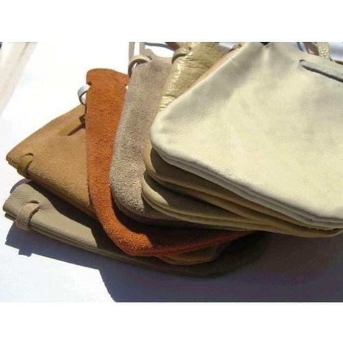 MaRécréation - 1 petit sac en cuir pour ranger les billes Couleurs aléatoires