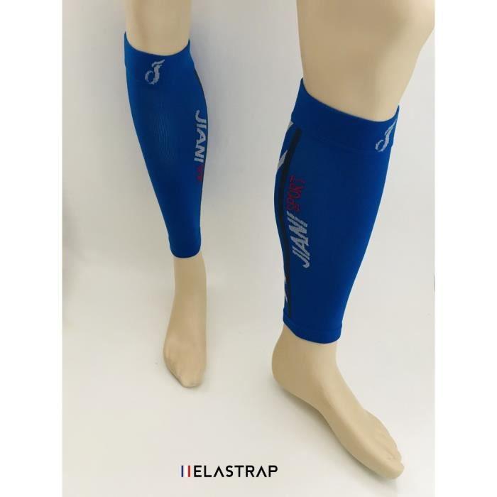Manchons de compression contention mollet sport - éffort et récupération - Course Marche Running - La paire - Elastrap