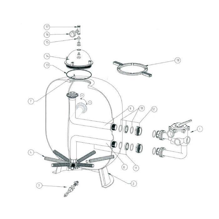 15.Kit adaptateur TE purge Triton 370117