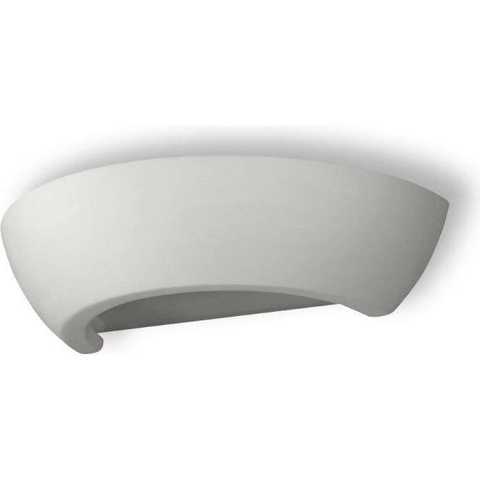 Applique Murale Céramique OSKAR E27 Lampe Murale Moderne BOHO Design Couloir - Blanc