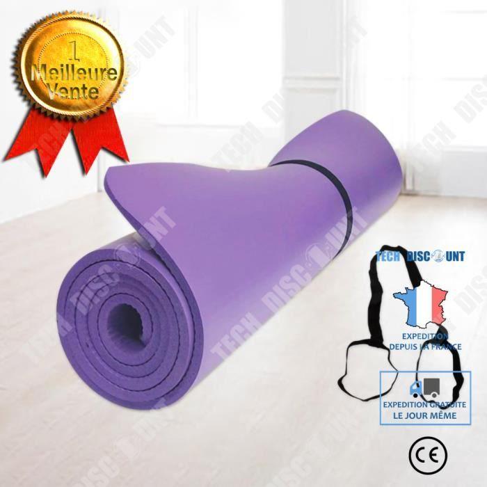 TD® Protection de l'environnement et tapis de yoga antidérapant insipide épaissir le tapis de danse 185 * 80 * 1 cm